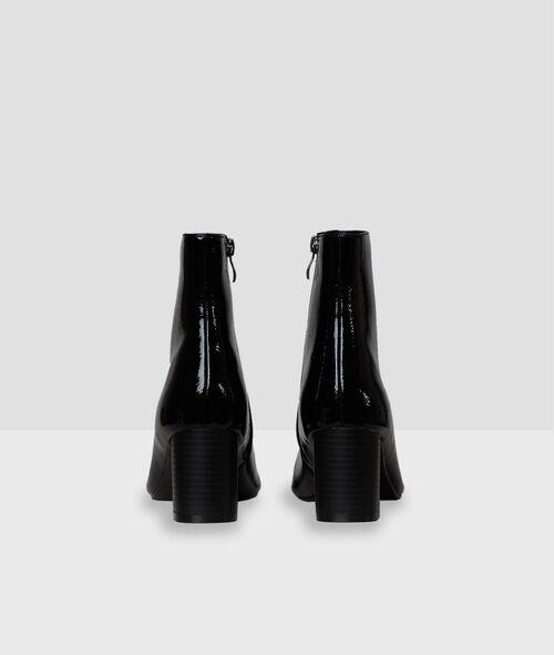 Bottines à talons en vinyle
