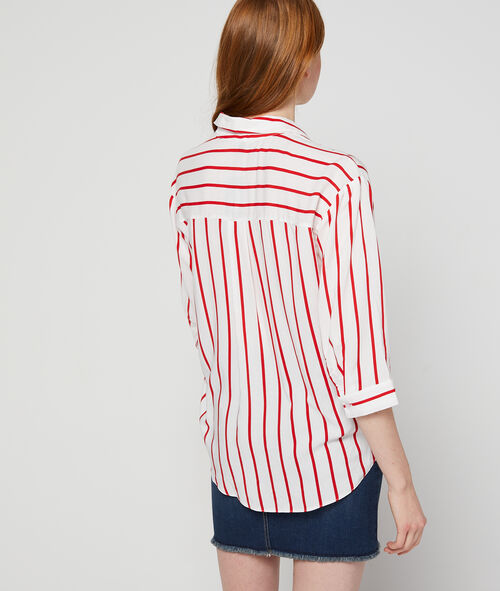 3/4 sleeves striped shirt