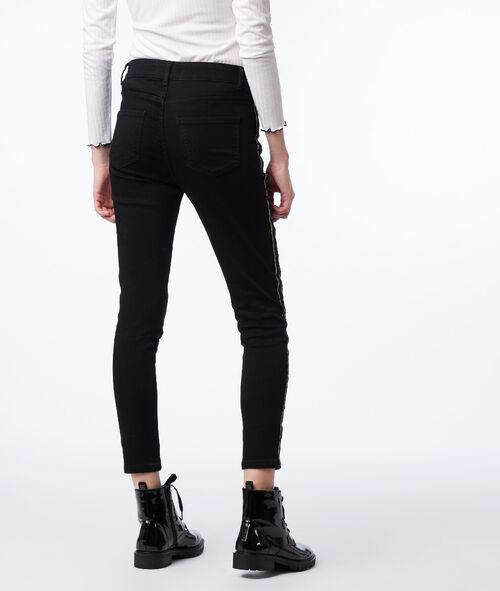 Jean skinny à bandes contrastrées