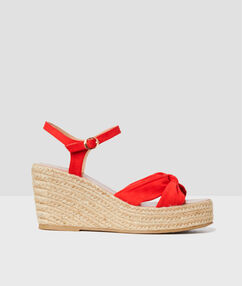 Espadrille wedge red.