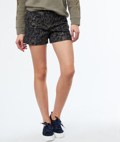Jacquard shorts navy blue.