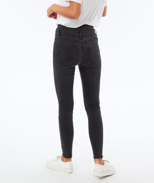 High waist slim leg jeans