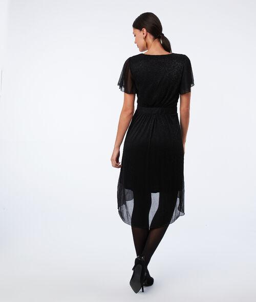 Metallic thread midi dress