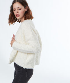 Short cardigan off white.