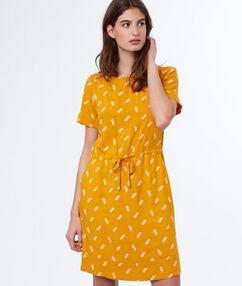 Printed dress ochre.