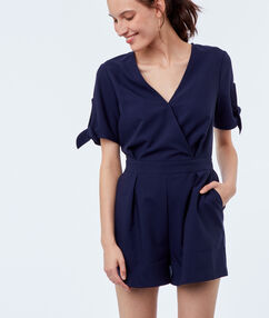 Sleeveless playsuit navy blue.