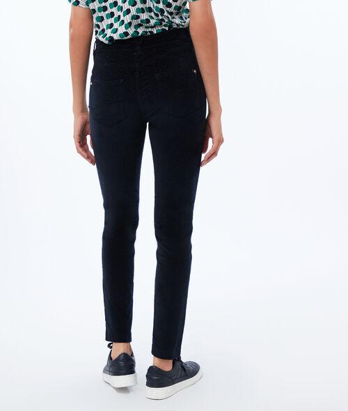 Corduroy slim trousers