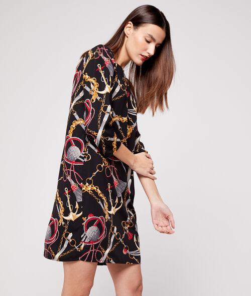 Robe fluide à motifs chaines
