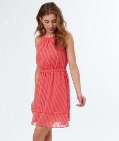 Sleeveless dress apricot.
