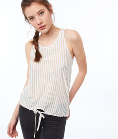 Striped top off-white.