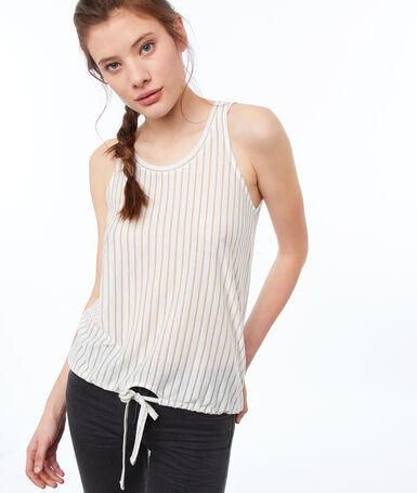 Striped top off-white.