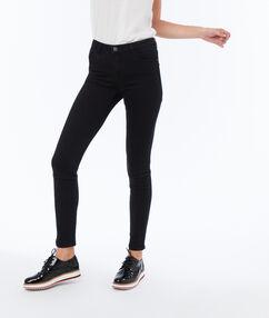 Pantalon slim uni noir.