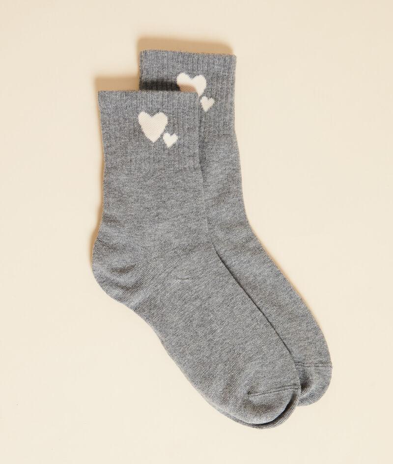 Chaussettes essentielles motifs coeurs