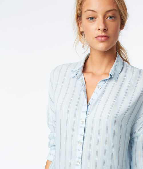 3/4 sleeves striped shirt