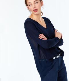 V-neck sweater navy blue.