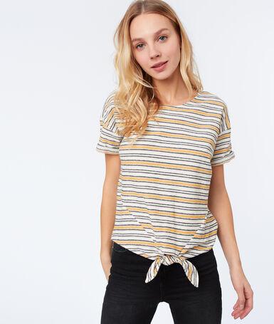 Striped t-shirt ochre.