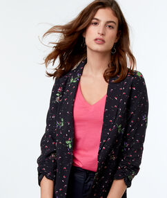 Printed jacket black.