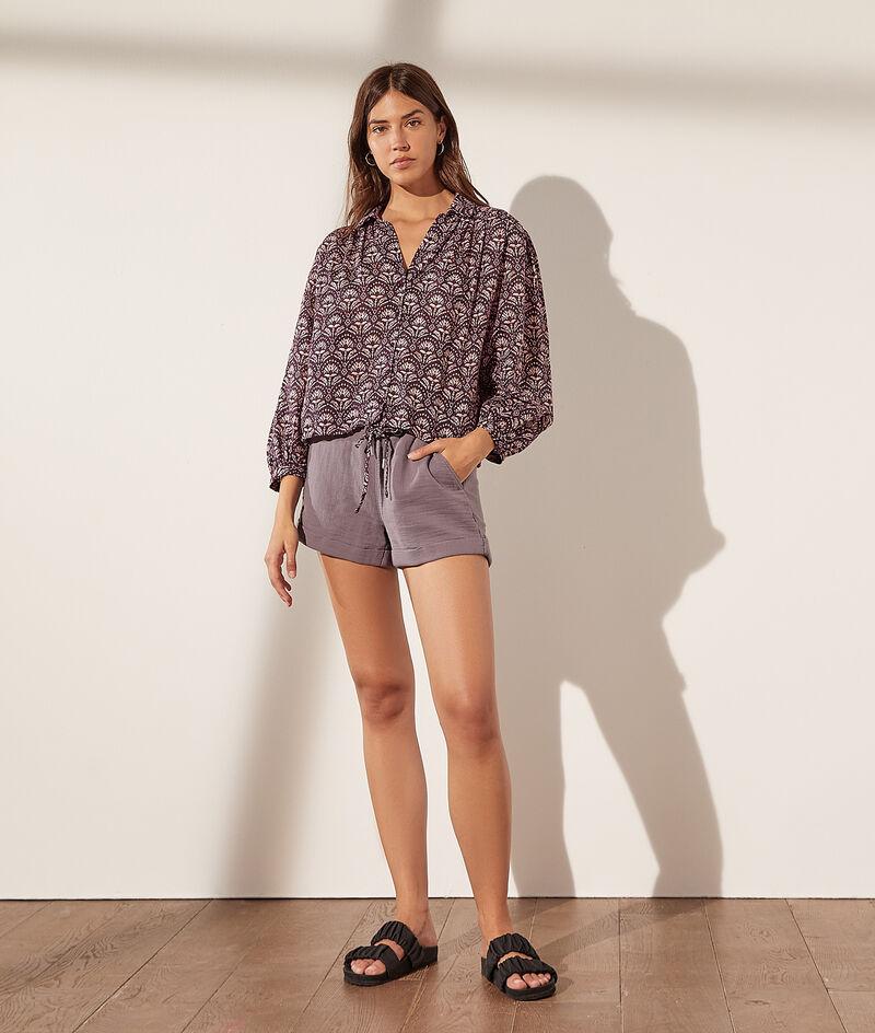 Cotton gauze shorts