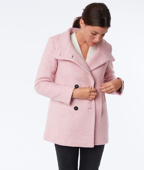 Button down three quarter length coat