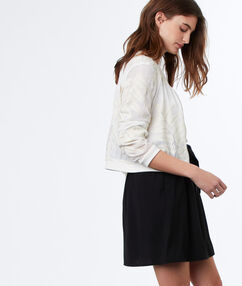 Skirt with belt black.