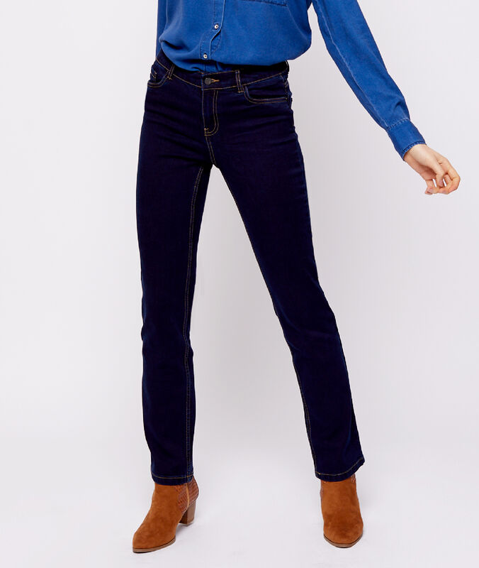 Straight-leg jeans raw blue.