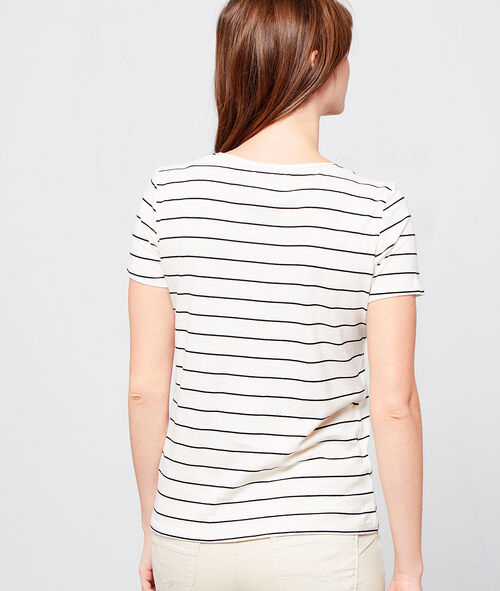 "T-shirt marinière ""Oui-Non"""