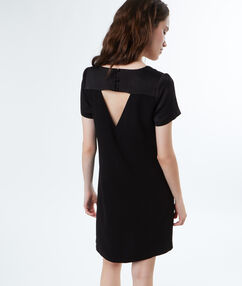 Formal v-neck dress black.