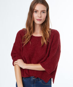 3/4 sleeves sweater cherry.