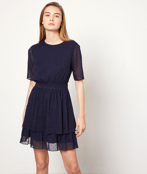Dobby mesh dress with lining