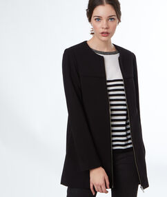3/4-length coat black.