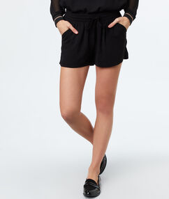 Plain shorts black.