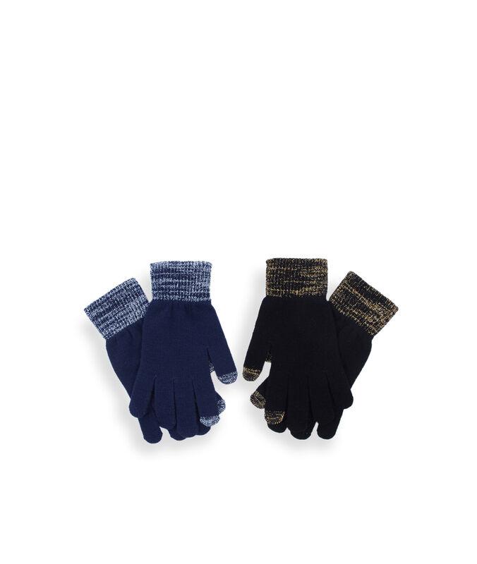 2 paires de gants tactiles bleu.
