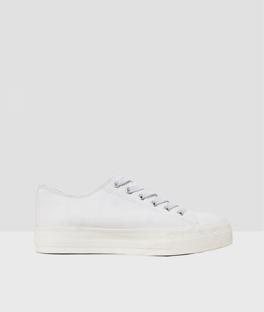 Lace-up sneakers white.