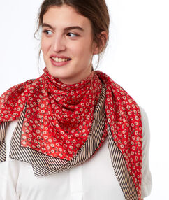 Printed scarf red.