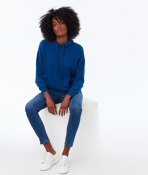 Cashmere hooded jumper