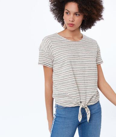 Striped t-shirt light pink.