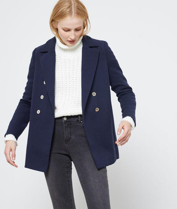 Boyfriend cropped coat