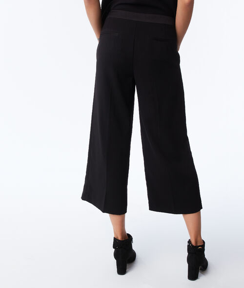 Side stripe wide trousers