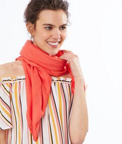 Plain scarf coral.