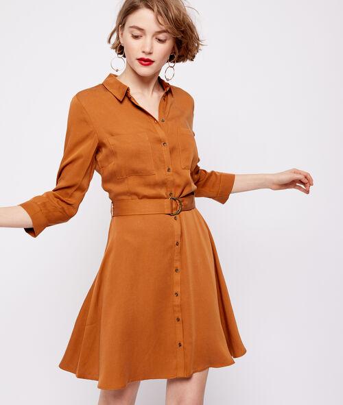 Tencel® belted dress