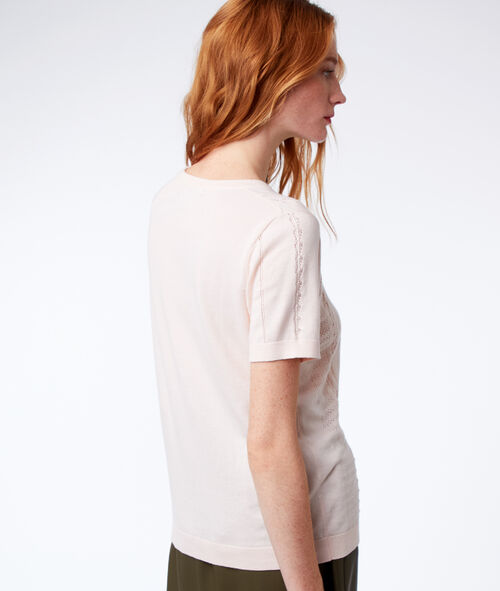 Jumper with short sleeves