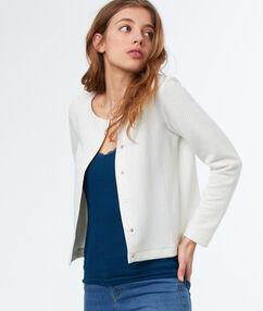 Button through jacket off-white.