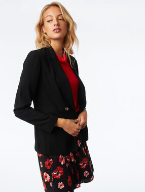 Double breasted blazer black.