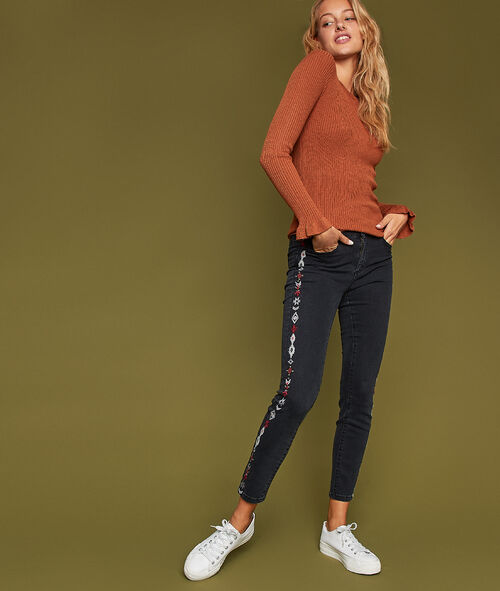 Embroidered side stripe trousers