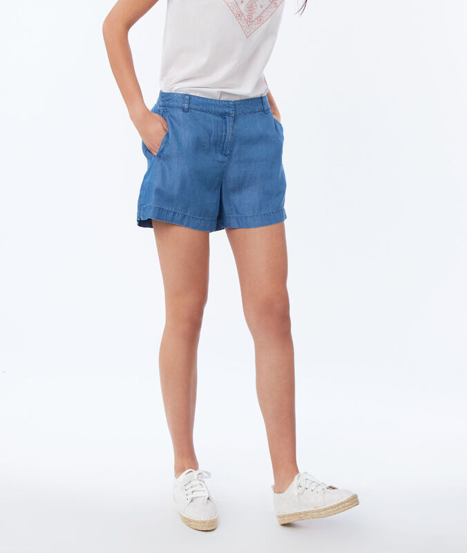 Tencel® shorts medium faded blue.