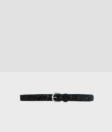 Leather belt black.