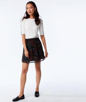 Floral skater skirt black.