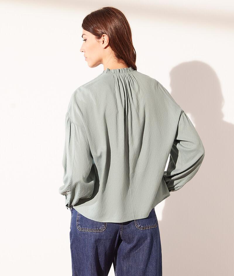 Tied v-neck blouse