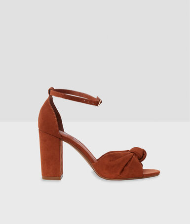 High-heeled sandals with knot detail barley.