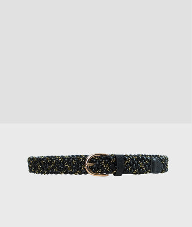 Woven belt black.